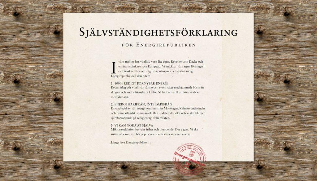 Självständighetsförklaring Energirepubliken